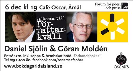 Författarkväll med Daniel Sjölin och Göran Moldén