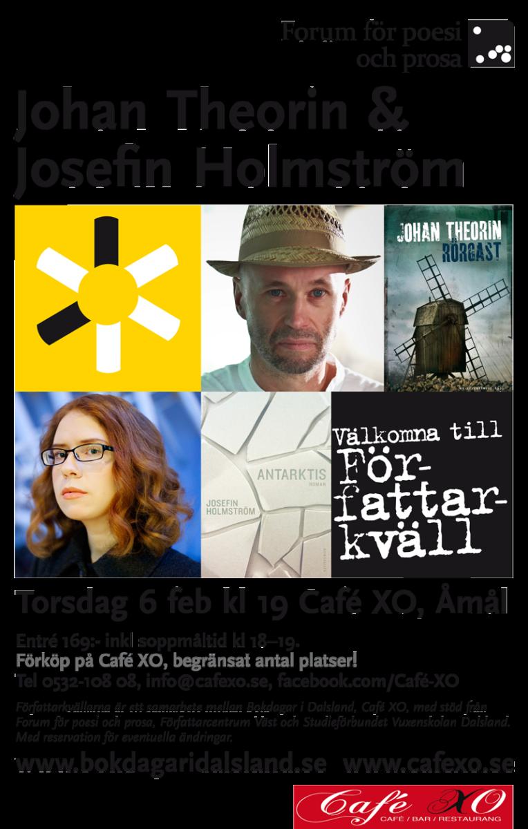 Författarkväll i Åmål 6 feb 2014