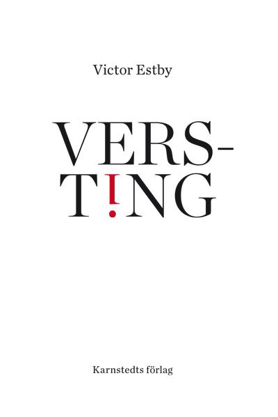 Victor Estby omslag Versting