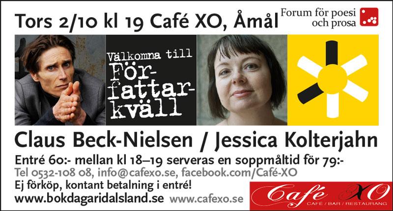 Författarkväll Åmål 2 oktober -14