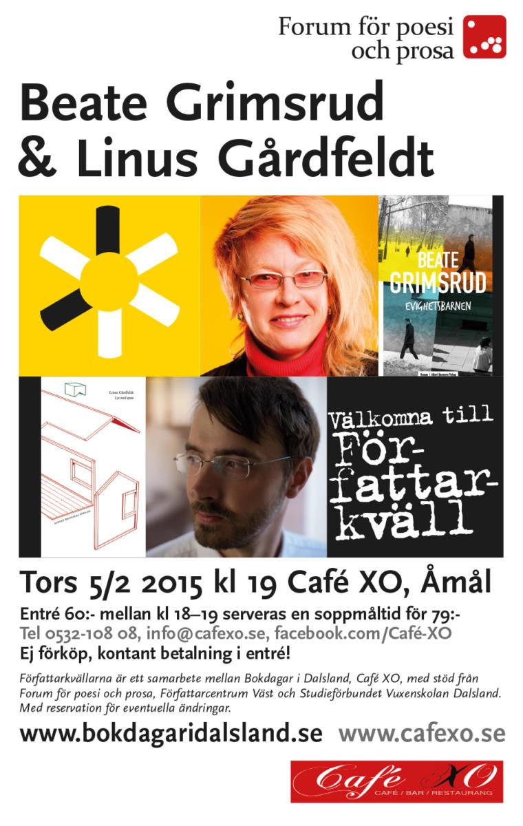 Författarkväll Åmål 5 februari 2015
