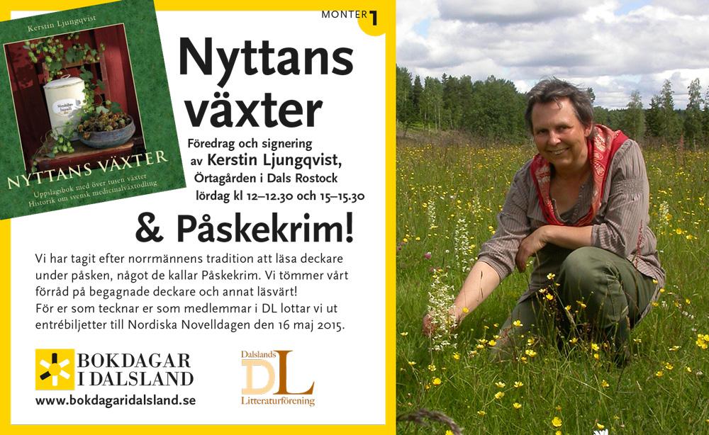 Åmålsmässan och föredrag av Kerstin Ljungqvist om Nyttans växter