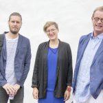 Presentatörer och invigningstalare på Bokdagars scen 2015