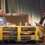 Svante Weyler och Tomas Bannerhed i ett scensamtal, Bokdagar i Dalsland 2015